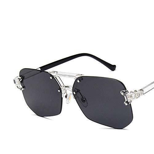 YUHANGH Coole Retro Frameless Brillen Übergroße Klare Linse Gläser Männer Frauen Transparente Optische Quadratische Glasrahmen