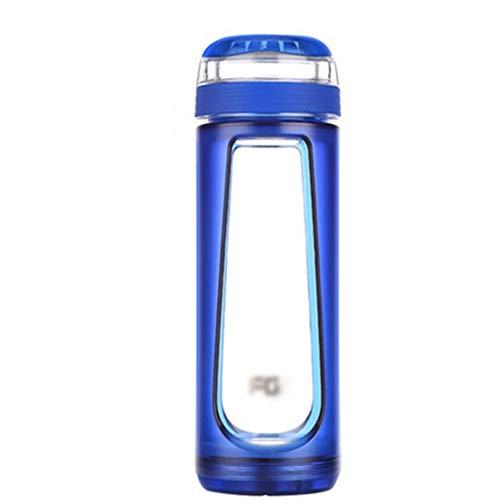 Zhanghongshop Glasschale hitzebeständige Büro Wasser Tasse Tee Tasse Tragbare Große Kapazität Mit Deckel Tasse 10,5 Unze (Color : Gray, Size : 20 * 6 * 6CM) -
