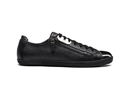 Chaussures de Ville A Lacets en Cuir Mode Sneakers Basses Homme 6568-2Noir