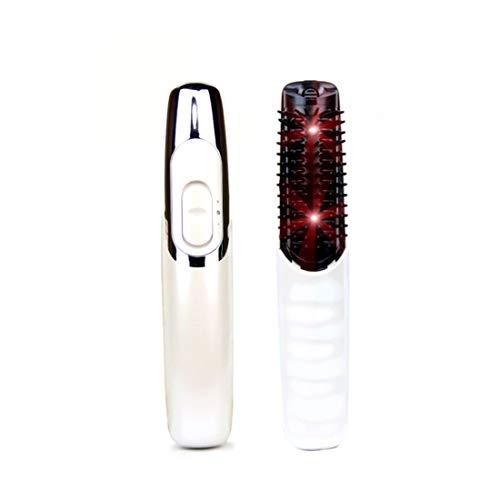 Infrarot-Haarkamm, Laser-Anti-Schuppen-Haarkamm Kamm Kopfpflege Massagekamm lange Haare Haarpflege Haarpflege (ohne Batterie),Milky