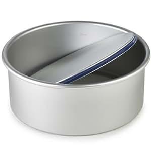 Lakeland PushPan 25 cm, eloxiertes Aluminium, Silikonversiegelter Boden, 8cm H