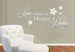 81x36cm Liebe macht unser Haus ein Zuhause Wandaufkleber Wohnkultur Wohnzimmer Kunst Dekor selbstklebende Vinyl Aufkleber neues Design heißer Verkauf LA185
