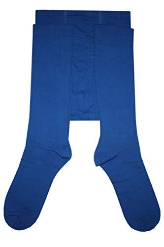Weri Spezials Herrenstrumpfhose mit Eingriff Glatt in Blau Gr. 50-52