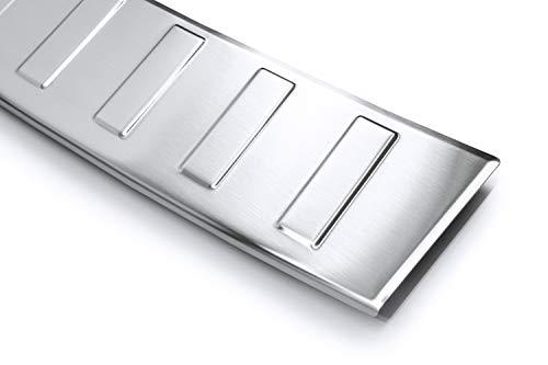 Tuning-Art L295 Edelstahl Ladekantenschutz mit Abkantung fahrzeugspezifische Passform, Farbe:Silber