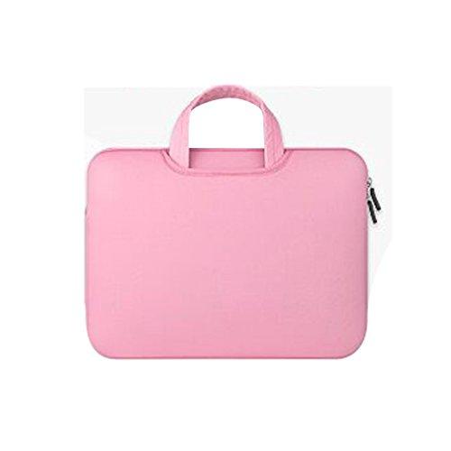 413629e5de Sac à Manches Housse Ordinateur Pc Pour Apple Macbook Air Lenovo Portable -  Rose, 11