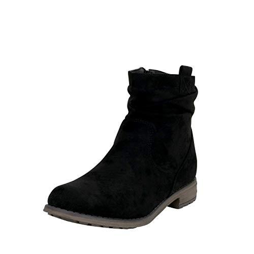 Fitters Footwear That Fits Stiefelette Ankle Boots Übergröße 42-45 Kate modern Blockabsatz (45 EU, Schwarz)