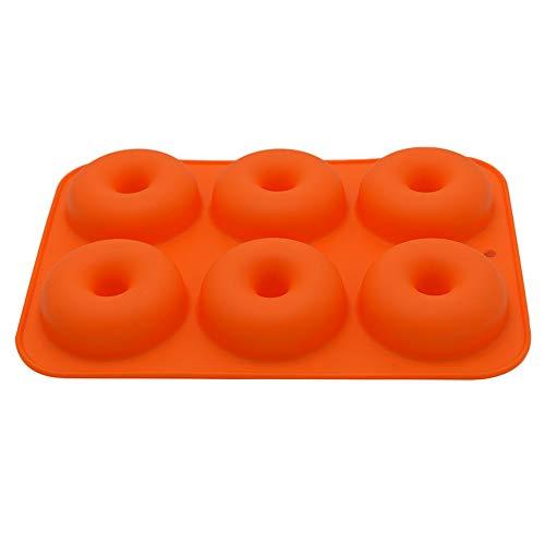 DOGZI Donut Maker Halloween Backen Fondant Formen Werkzeug, 6 Cavity Silikon Donut Backform Antihaft Form Spülmaschinen Dekorations ()