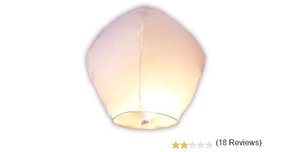 Pack X10 Lanternes Volantes Biodégradables Et Non Inflamables Blanc