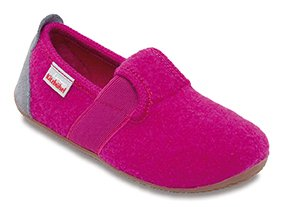 Living Kitzbühel T-Modell Unifarben, Chaussons mixte enfant Rosa (Pink (368 fuchsia))