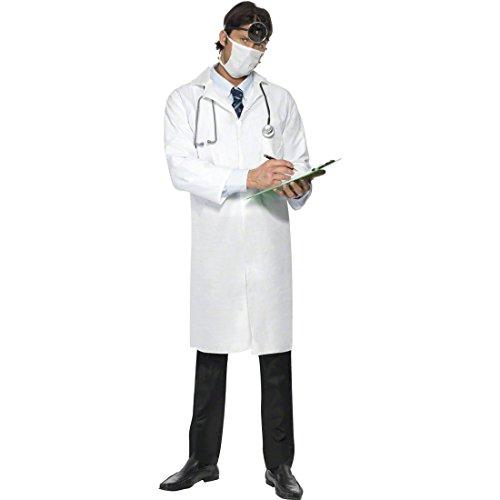 Arzt Kostüm weiß L 52/54 Arztkostüm Doktor Kittel Doktorkittel Doktorrobe (Patient Kostüm Arzt)