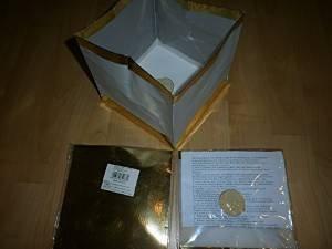 Schnooridoo 12 x Wasserlaterne Wasserlampion mit Teelicht Papierlaterne 15 cm - Gold
