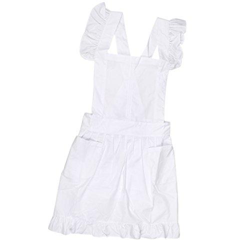 Viktorianischen Stil Spitze Küchenschürze Schürze Kostüm Pinafore Taschen - - Viktorianischen Stil Kostüm