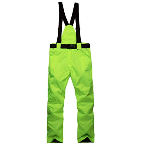 Mitef Erwachsene Skihose Warm wattiert Winddicht Wasserdicht Snowboardhose und Größen, Herren, Leuchtend grün, XX-Large -