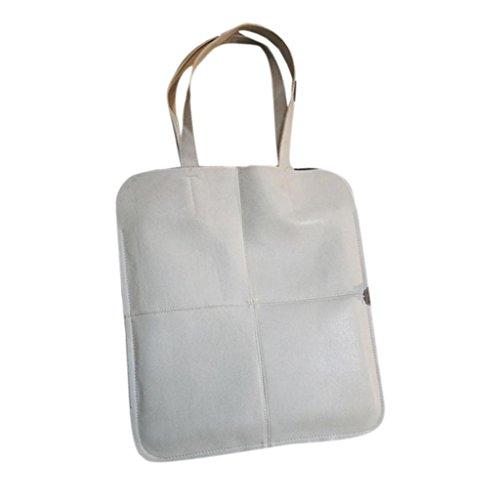 Hunpta Frauen Mode Tasche Umhängetaschen solide große Handtasche großer Kapazität Griff Taschen Gray