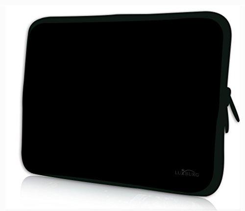 Luxburg® Design Laptoptasche Notebooktasche Sleeve für 15,6 Zoll, Motiv: Schwarz - Weiß Laptop Vaio Sony