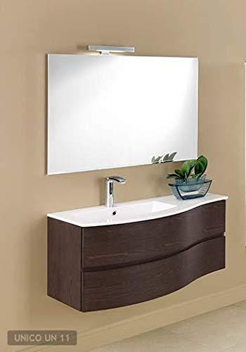 Mobiltesino Badmöbel MOD. Einzigartiger 106 cm Finish mit Waschbecken aus Mineralmarmor