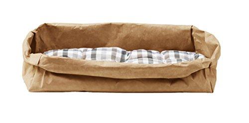 Pongo: Couchage pour Chat/Chien en Fibre de Cellulose Couleur Havane, avec Coussin Amovible en Coton hypoallergénique, fabriqué en Italie par Limac Design®.