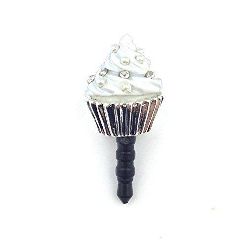 Swirl Cup Cake cellulare gioielli/Handy maschio bianco argento