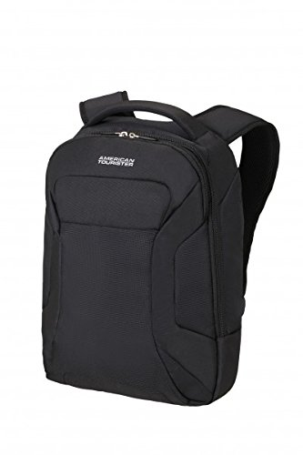 "American Tourister Road Quest Laptop Zaino 15.6"", Poliestere, Solid Black, 18.5 litri, 43 cm"