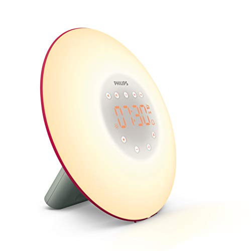 Philips Wake-up Light, Plastik, 10.6 x 18.1 x 18.1 cm, rot (Philips Light Wake-up Von)