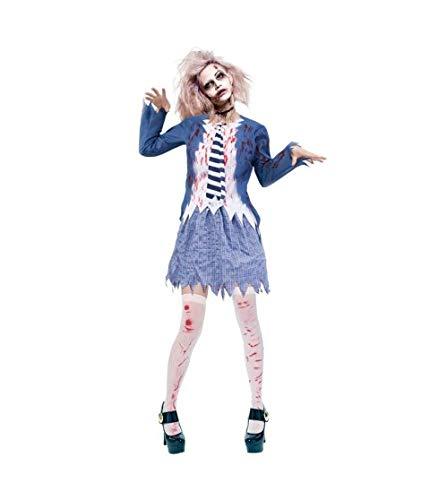 Halloween Disfraz de Estudiante Zombie Chica para Mujer, Talla M … …