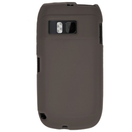 Amzer 91880 Silicone Skin Jelly Case - Grey for Nokia E6-00  available at amazon for Rs.239