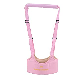 AllRight Baby Toddler Walking Assistant Learning Walk Safety Reins Harness for 6 Months to 14 Months Pink