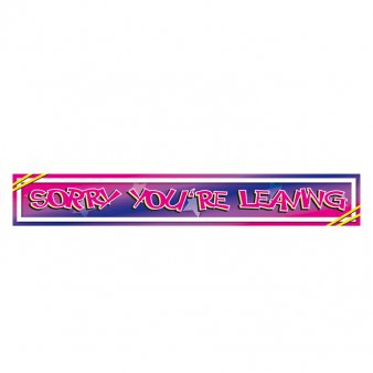 Amscan International Foil Banner Sorry Youre Leaving : everything five pounds (or less!)