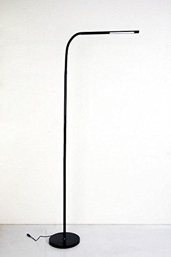 Halooptronics - rocket 1933 - lampada a piantana led 10w equivalenti a 100w - dimmerabile, comandi tattili. lampada da terra led / lampada a piantana design / lampada per il salotto / lampada led di designer. tutto in alluminio. posizioni multiple rotante 360 °, multiuso, ad altezza variabile. colore nero/black. marchio francese / 3 anni di garanzia / scorte e assistenza francese
