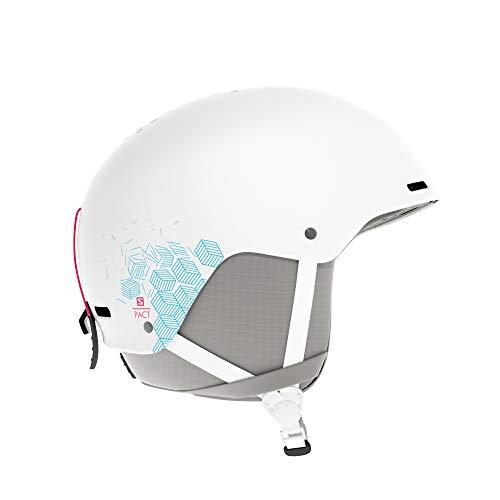Salomon Pact Casco de esquí y Snowboard para niños, Carcasa ABS, Interior de Espuma EPS 4D, Circunferencia: 56-59 cm, Unisex, Blanco, Talla JRM