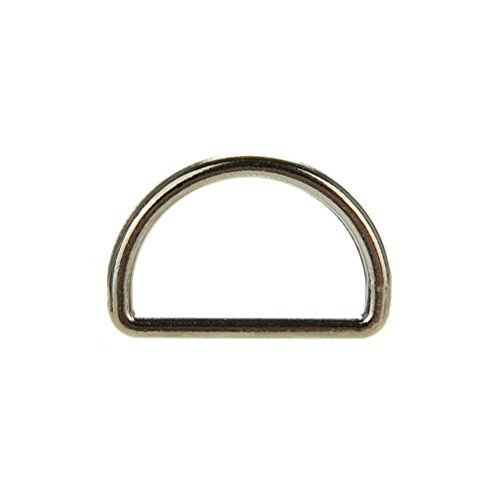 AOWA 10 Stücke 25mm Metall Silber D Ring D-Ringe Geldbörse Ring Schnallen Für Gurtband Umreifung -