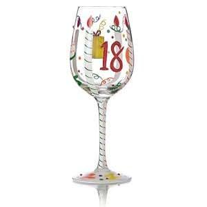 Th Birthday Hand Painted Wine Glass