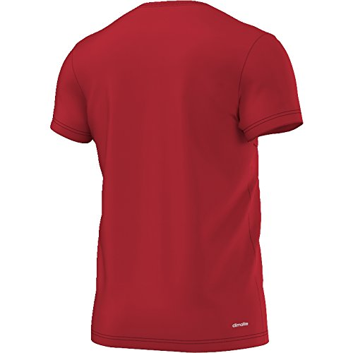 adidas Herren Essentials Linear T-Shirt Weinrot/Schwarz