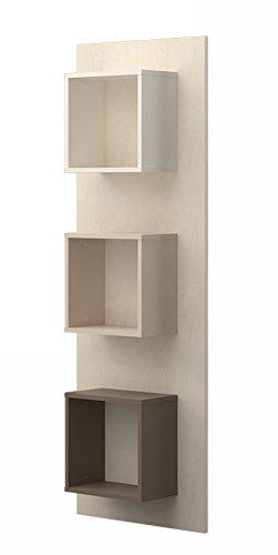 Jugendzimmer - Wandregal Matthias 05, Farbe: Creme / Cappuccino - Abmessungen: 172 x 58 x 22 cm (H x B x T)