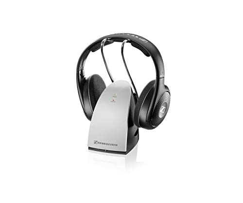 Sennheiser rs 120 ii, cuffie wireless, trasmettitore tr 120ii, over-ear, 1, nero
