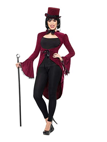 Smiffys 47590LX1 - Chaqueta de mujer para vampiro, talla L a XL, color burdeos