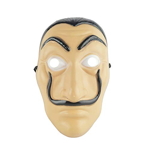 Lustige Kostüm Ingwer Für - QHYAH Lustige Werkzeuge La Casa De Papel Maske Salvador Dali Gesichtsmaske Masque Mascara Dali Geldraub Cosplay Dekoration Maskerade Halloween