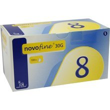 NOVOFINE 8 Kanülen 0,30x8 mm TW 100 Stück