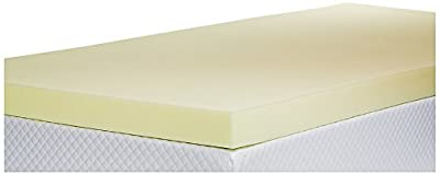 Memory Foam Mattress Topper with Cover, 3 inch - UK King Size