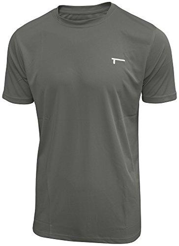 TREN Herren COOL Ultra Lightweight Polyester SS Tee Funktionsshirt T-Shirt Kurzarm Dunkelgrau 020 - M