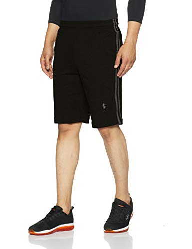Jockey Men's Cotton Shorts (9426-0103-BLACK Black M)