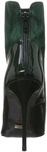 Buffalo Damen 12206-314 Suede Patent Kurzschaft Stiefel Grün (FOREST 01)