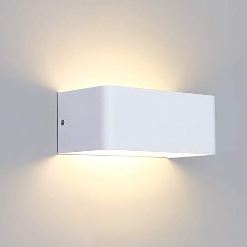 SISVIV 7W LED Applique da Parete Interno Moderno Lampada da Parete in Alluminio per Soggiorno Corridoio Camera da Letto Scale Bianco