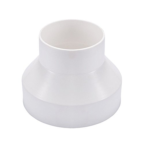 Hon&Guan Leitungssystem Reduzierstück Adapter für Rohrventilator, Reduzierverbinder Reduzierstück Reduktion Rohr Übergang Lüftung Rundrohr Ventilation Lüftungskanal Ventilator (150mm bis 100mm)