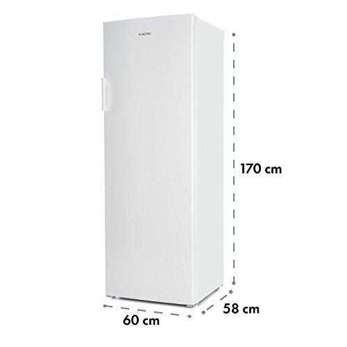 Klarstein Iceblokk 225 . 4-Sterne Gefrierschrank . 212 Liter Gefrierraum . 7 Ebenen . 170 cm hoch . Blitzfrost-Modus . Temperatur von -16 bis -22 °C . jährlicher Energieverbrauch 198 kWh . freistehend . wechselbarer Türanschlag . weiß - Bild 2