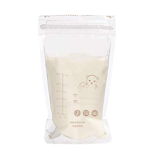 Lucky Big Head YY Muttermilch Aufbewahrungsbeutel, Muttermilch Beutel (50 Stück Packung),Clear