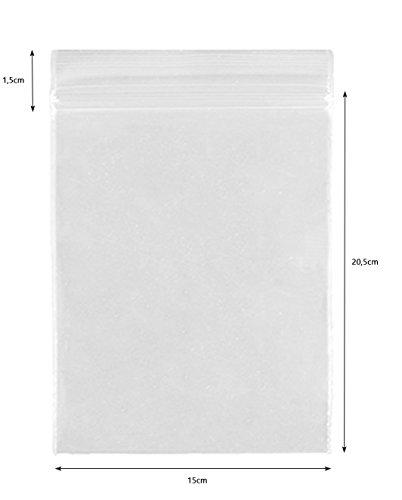 100PZ 150X 205mm 50mµ ermetiche CPP chiusura sacchetto Pellicola Plastica Bento