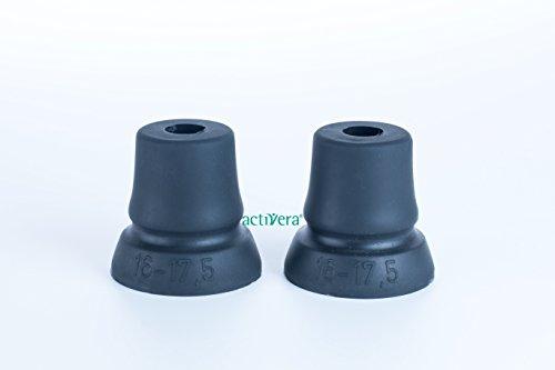 rückenkapsel Gehhilfenfuß mit großer Auflagefläche für Unterarmgehstützen Gehstöcke Gehhilfen passend für Rohre mit D=16-17,5mm ()