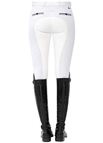 SPOOKS Reithose für Damen Mädchen Kinder, Voll-Besatz Reithosen Leggings Turnierreithose - bequem & stylisch Ricarda Full - Weiß XL