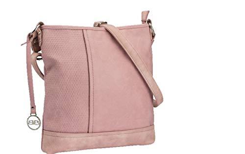 BERNARDO BOSSI Crossover Damen Tasche Shopper Hobo Bag Schultertasche Frauen Umhängetasche verschiedene Modelle (M5 rose)